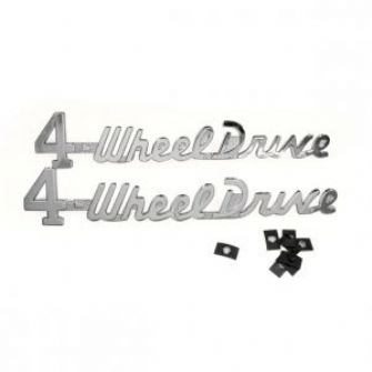 Four Wheel Drive Emblem Kit, 1949-1964, Willys Pick Up Truck, Station Wagon and Sedan Delivery