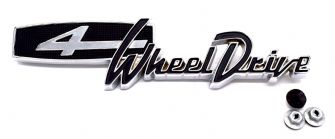 4 Wheel Drive Emblem, Jeepster Commando