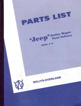 Parts List - Station Wagon Panel Delivery - 1947-49