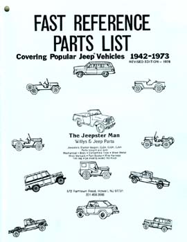 Fast Reference Parts List - Covering Popular Jeep Vehicles