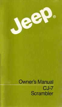 Jeep Owners Manual - CJ-7 Scrambler