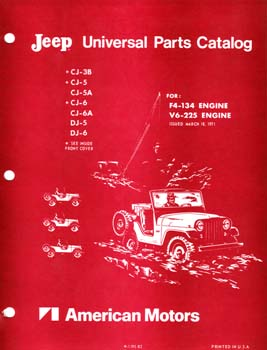 Jeep Universal Parts Catalog - 4 and V6