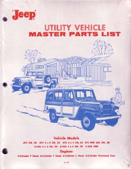 Jeep Utility Vehicle Master Parts List