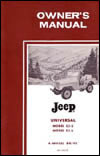 Owners Manual - Universal CJ-5 & CJ-6 OUT OF STOCK