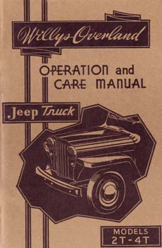 Owners Manual - Jeep Truck Models 2T-4T